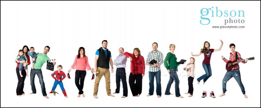 Family Portrait Photographers Ayrshire Large Family Portrait Photograph