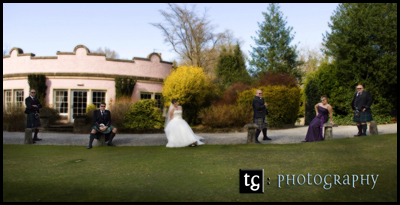 Kirsten & Iain€™s Wedding photographs, Roman Camp Hotel, Callander