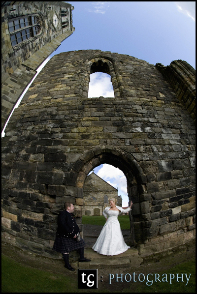 Sally and David, Kilwinning Abbey, Scotland