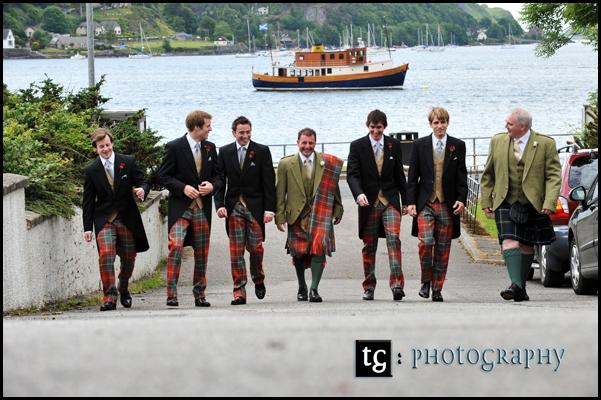 Wedding Gallanach Estate, Oban Charlie and the boys wedding photograph