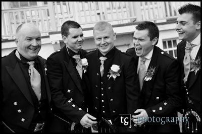 Gavin and boys wedding photograph, Seamill Hydro, Ayrshire Scotland