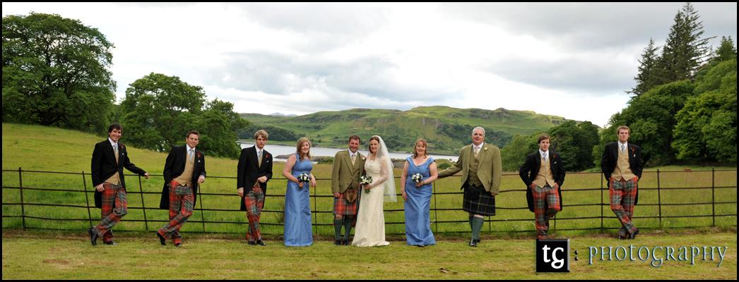 Wedding Gallanach Estate, Oban, Bridal Party Wedding Photograph