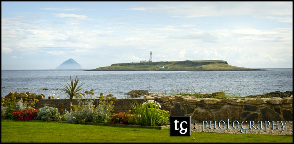 Wedding Kildonan Hotel, Isle of Arran, view from Kildonan Hotel