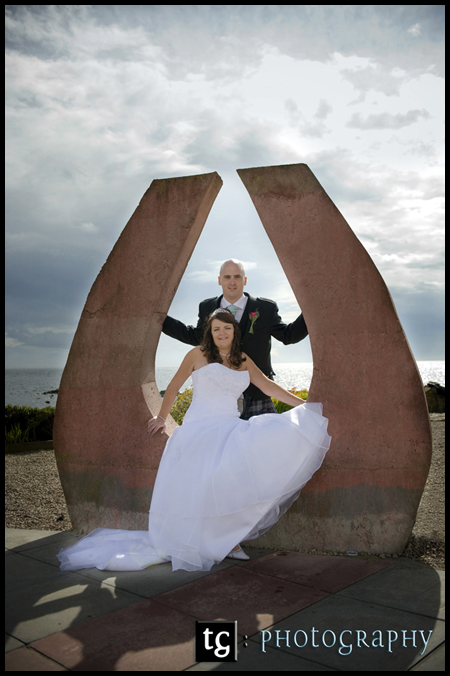 wedding Kildonan Hotel, Isle of Arran, Susan & John beautiful wedding photograph