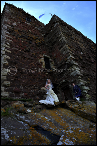 Beautiful wedding photograph Portencross, wedding Seamill Hydro Hotel