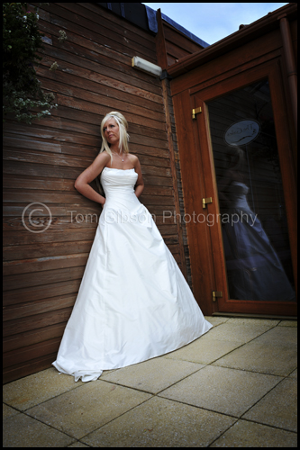 Wedding Gailes Hotel, Irvine, contemporary wedding photograph bride