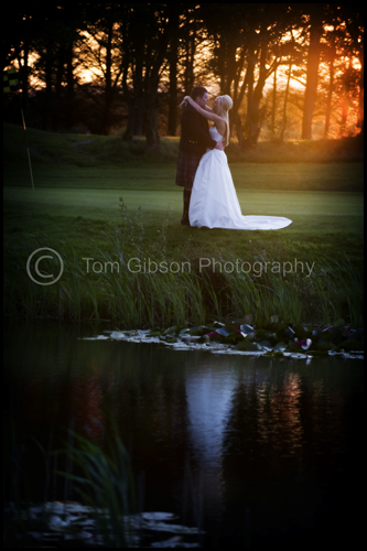 Wow sunset wedding photograph Gailes Hotel, Shona & Colin