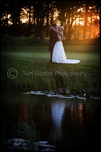 Wow sunset wedding photograph Gailes Hotel, Shona & Colin