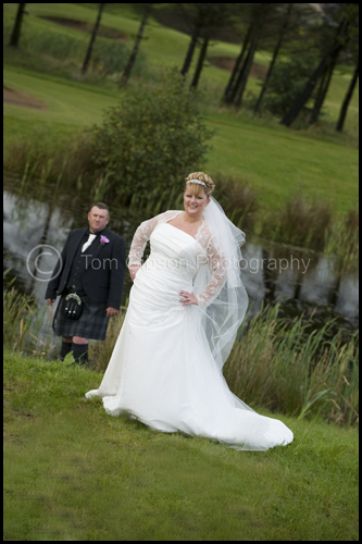 Wedding Ayshire, Gailles Hotel, beautiful wedding photograph Gillian & Peter