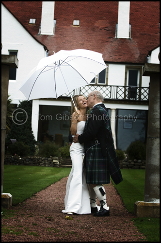 Wedding Lochgreen House Hotel, Troon, wedding photograph Helen & Tennant