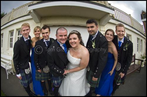 Wedding Seamill Hydro Hotel, fun bridal party wedding photograph