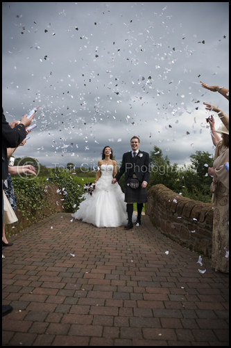 Wedding Lochside House Hotel, Wedding confetti photograph