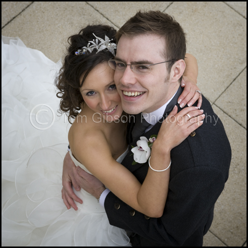Wedding Lochside House Hotel, wedding photograph bride and groom