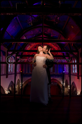 Wedding Oran Mor, Glasgow, colourful wedding photograph Kirsten & Steven