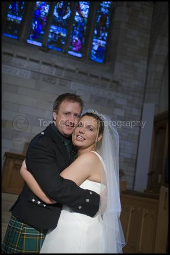 Gill and Paul Wedding Photograph Portland Parish Church, Troon