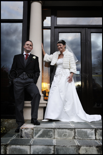 Wedding Lochgreen House Hotel, Bride and Groom fun wedding photograph