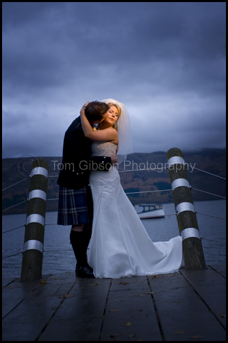 Wonderful wedding photograph Luss, Wedding Lodge on Loch Lomond, Kelly and Kevin