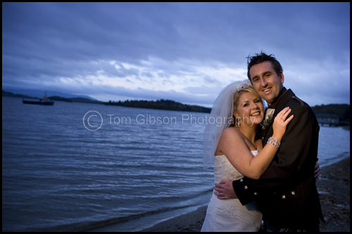 Gorgeous wedding photograph Luss, Loch Lomond, Kelly and Kevin