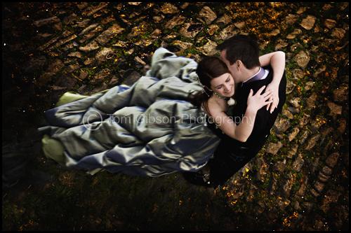Creative wedding photograph Scotland, Sarah & Peter