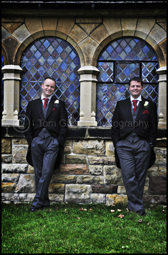 Great Wedding Photograph Groom and Bestman, Troon