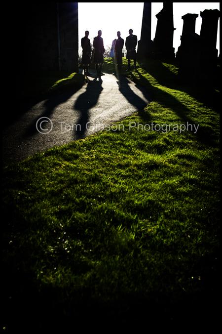 Wedding Kilmaurs, Glencairn Parish Church, Contemporary wedding photograph Gareth and the boys