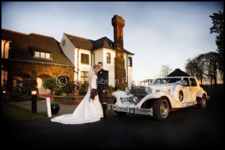Wedding Western House Hotel, Ayr, Traditional Wedding photograph Gillian & Gareth at the car