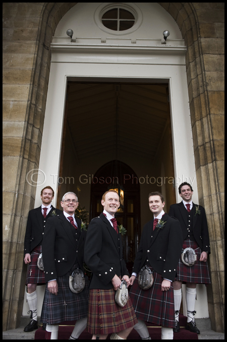 Wedding Mar Hall, Fun Wedding photograph Gavin and the boys