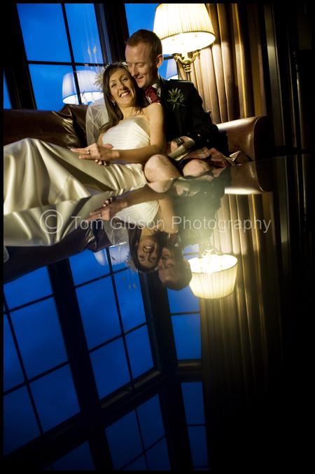 Wedding Mar Hall, Contemporary Wedding Photographs, Heather & Gavin reflection