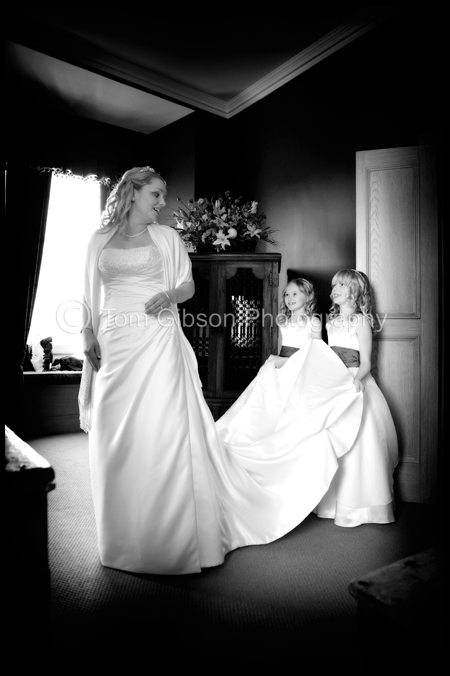 Jen & Martin€™s Wedding Dalhousie Castle, photograph of the girls getting ready