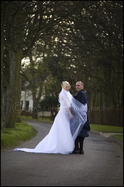 Marlene & Alex wedding Western House Hotel, wedding photograph Ayr Racecourse