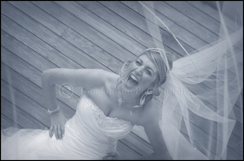 Fun wedding photograph of Nicola, wedding photographer Ayrshire