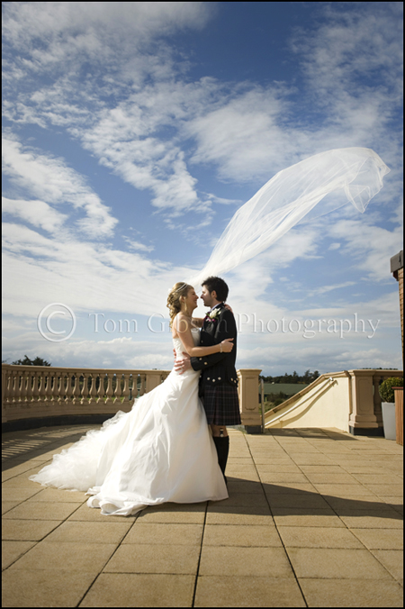Wedding veil photograph Nicola & Ryan, wedding photographer Ayrshire