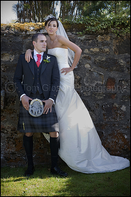 Wedding Macdonald Crutherland House, stunning wedding photograph Laura and Scott