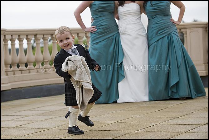 Wedding Scotland, fun wedding photograph Gailes Hotel