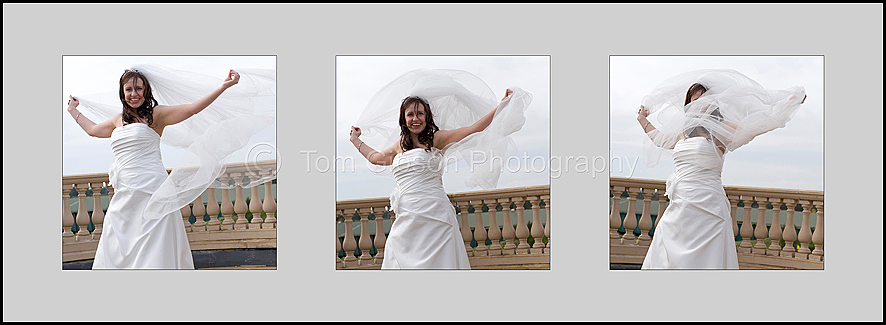 Wedding Ayrshire, Fun veil photographs of Lorna