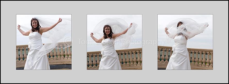 Wedding Ayrshire, Fun veil photographs of Lorna