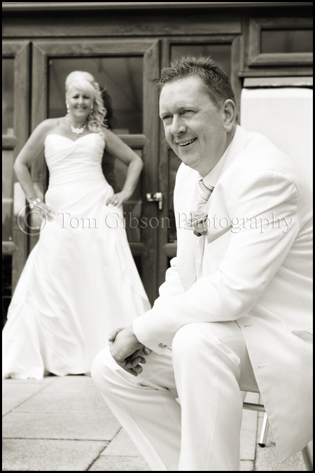 Wedding James Bond Theme Gailes Hotel Ayrshire, Fun wedding photograph Diane and Aidan