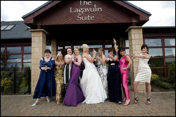 James Bond Themed wedding, wedding photographer Ayrshire, Cool groom, bestman and ushers photograph