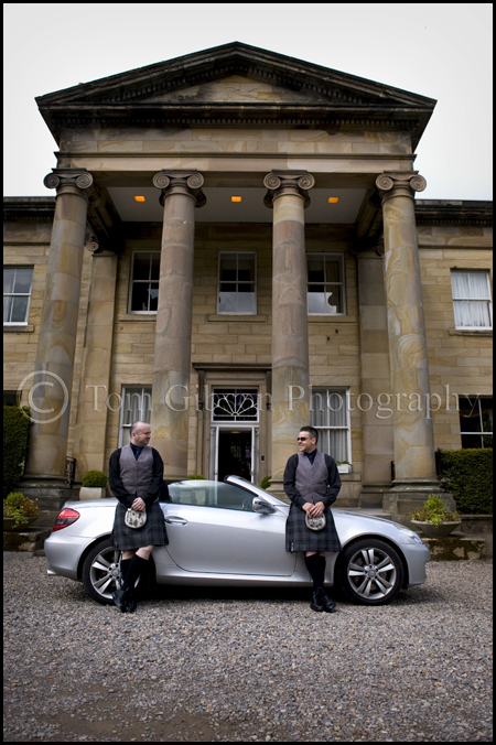 Wedding photographer Balbirnie House Hotel, the boys groom and bestman wedding photographs with attitude