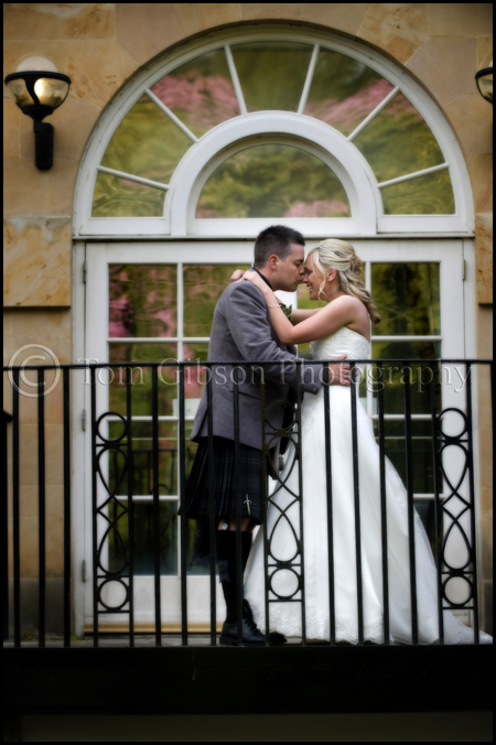 Fun wedding photographs Balbirnie House Hotel, Gillian and Iain bride and groom wedding photograph Balbirnie House Hotel