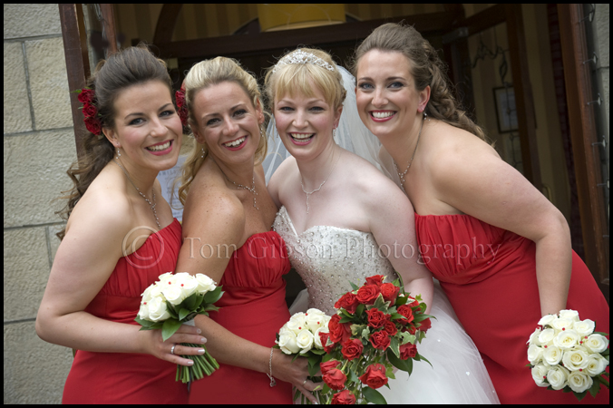 Wedding West Kilbride Ayrshire Scotland, Bride and Bridesmaids wedding photograph Seamill Hydro Ayrshire