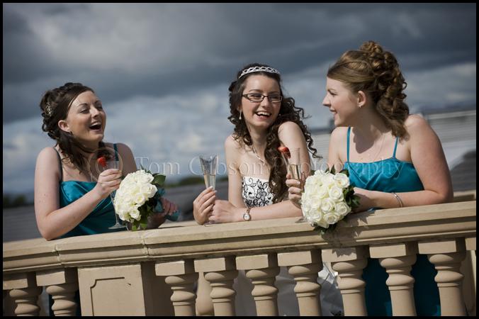 Wedding Ayrshire Gailes Hotel, Wedding photographer Ayrshire Gailes Hotel, Bride and Bridesmaids wedding photograph