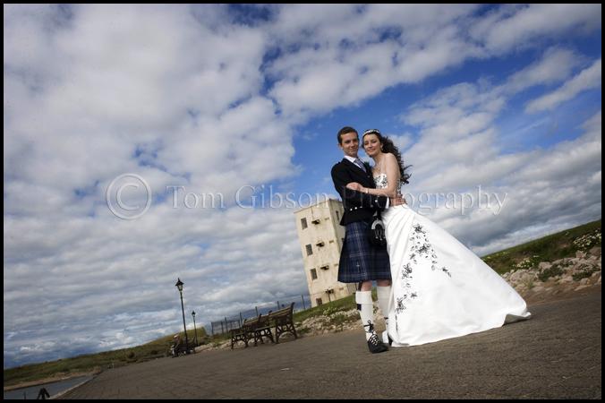 Wedding photograph on the beach, wedding photographer Ayrshire, Scotland