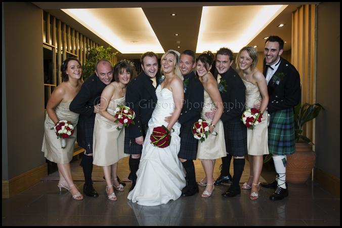 Brisbane House Hotel Largs wedding, fun wedding photographs, wedding photographer Largs