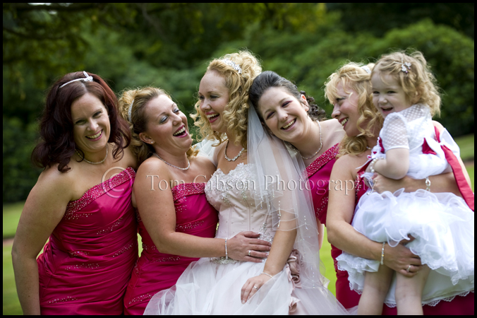 wedding photographs bride and bridesmaids Norton House Hotel Edinburgh wedding photographer