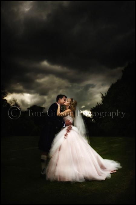 Wedding photographer Norton House Hotel Edinburgh, stunning wedding photograph bride and groom