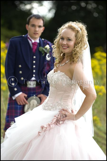 wedding photographer Edinburgh Norton House Hotel wedding photograph bride and groom