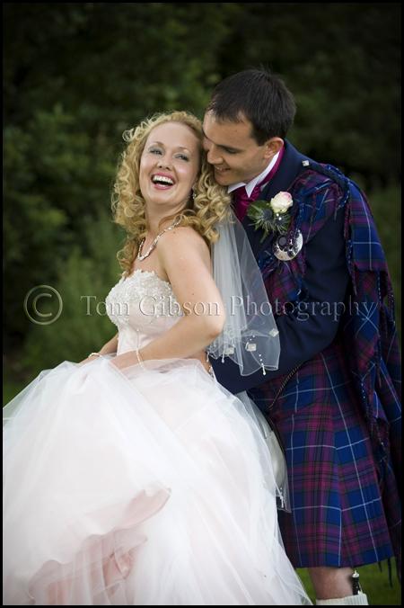 Fun wedding photographs bride and groom Norton House Hotel wedding photographer
