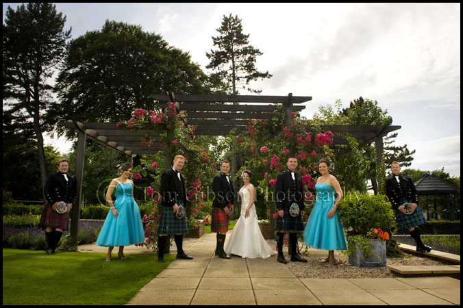 Wedding photogher Ayr, really fun wedding photographs bride, groom and bridal party