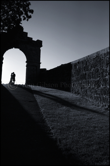 Wedding Culzean Castle, Ayrshire, Scotland, Wedding Photographer, Silhouette wedding photograph